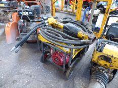 JCB petrol engine hydraulic breaker unit with hose and breaker (E319951)