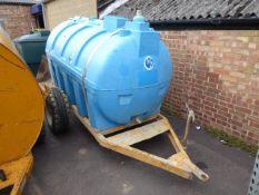 2500L water tank on single axle plant trailer (E310261)