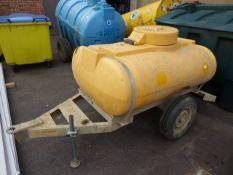 1000L water tank on single axle plant trailer (E322036)