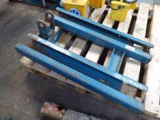 Conquip blue forklift attachment/ cradle
