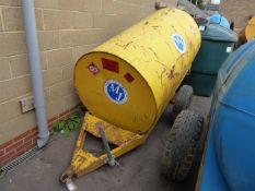 Fuel tank on single axle plant trailer