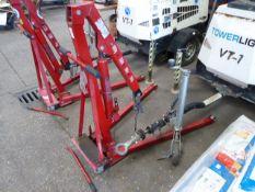 1 ton engine crane in red (E323076)