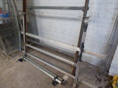 Large van roof rack with roller bars and pair of roof bars