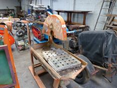 (25) Clipper Norton CM501 pullover petrol engined site saw