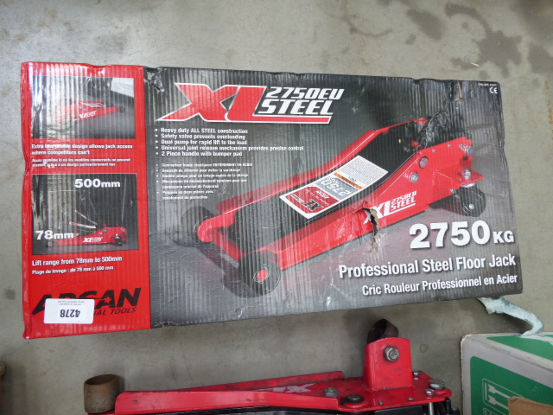 Lot 4278 - Boxed Arcan trolley jack
