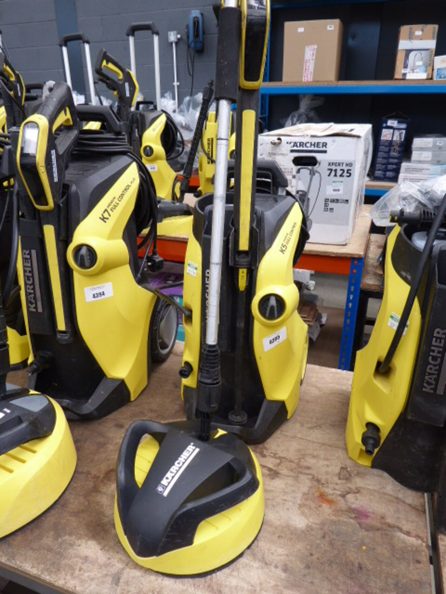 Lot 4395 - Karcher K5 premium full control pressure washer with patio cleaning head