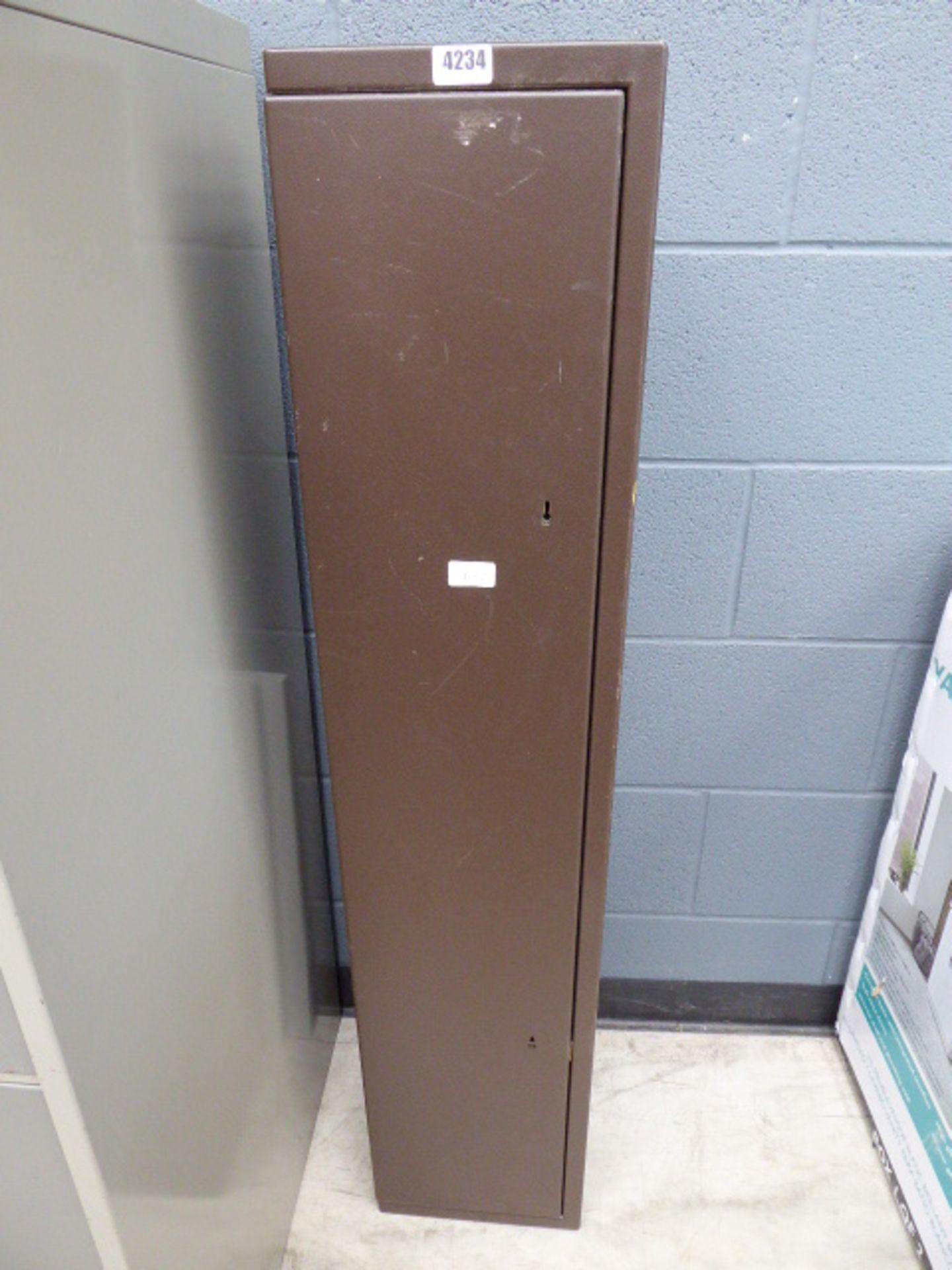 Lot 4234 - Brown metal gun safe