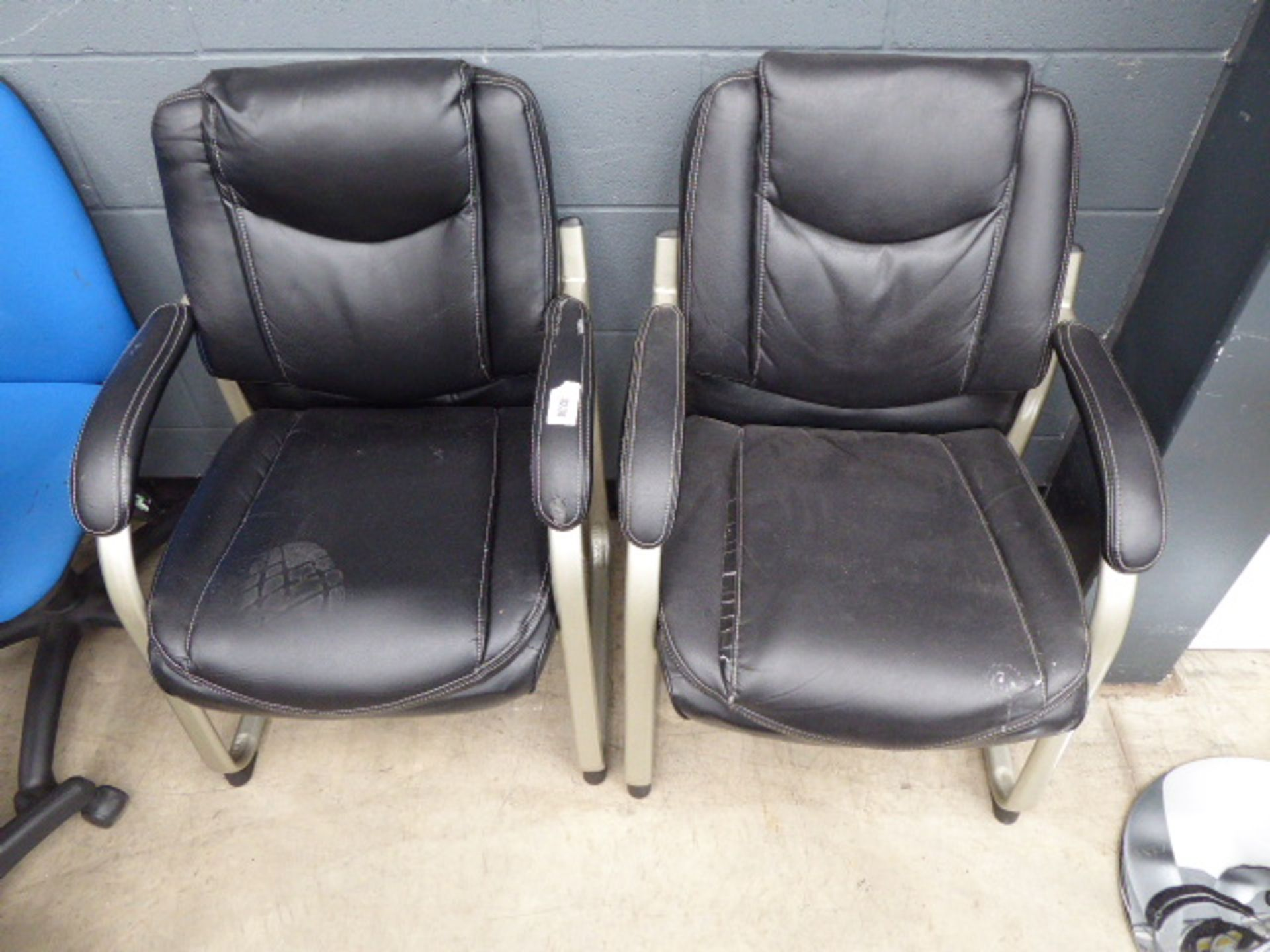 Lot 4238 - 4247 2 Slide frame chairs