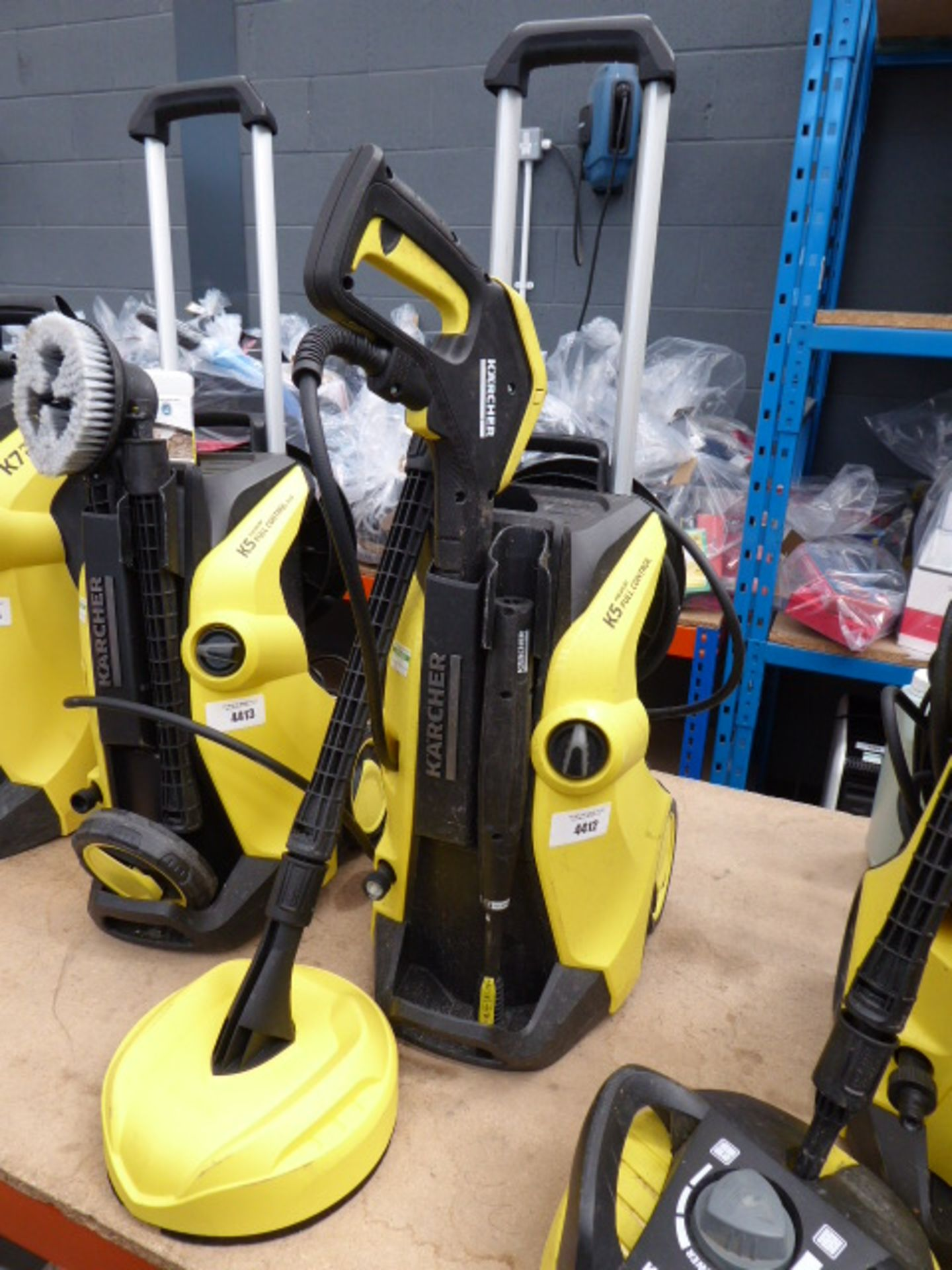 Lot 4412 - A Karcher K5 premium full control pressure washer with patio cleaning head