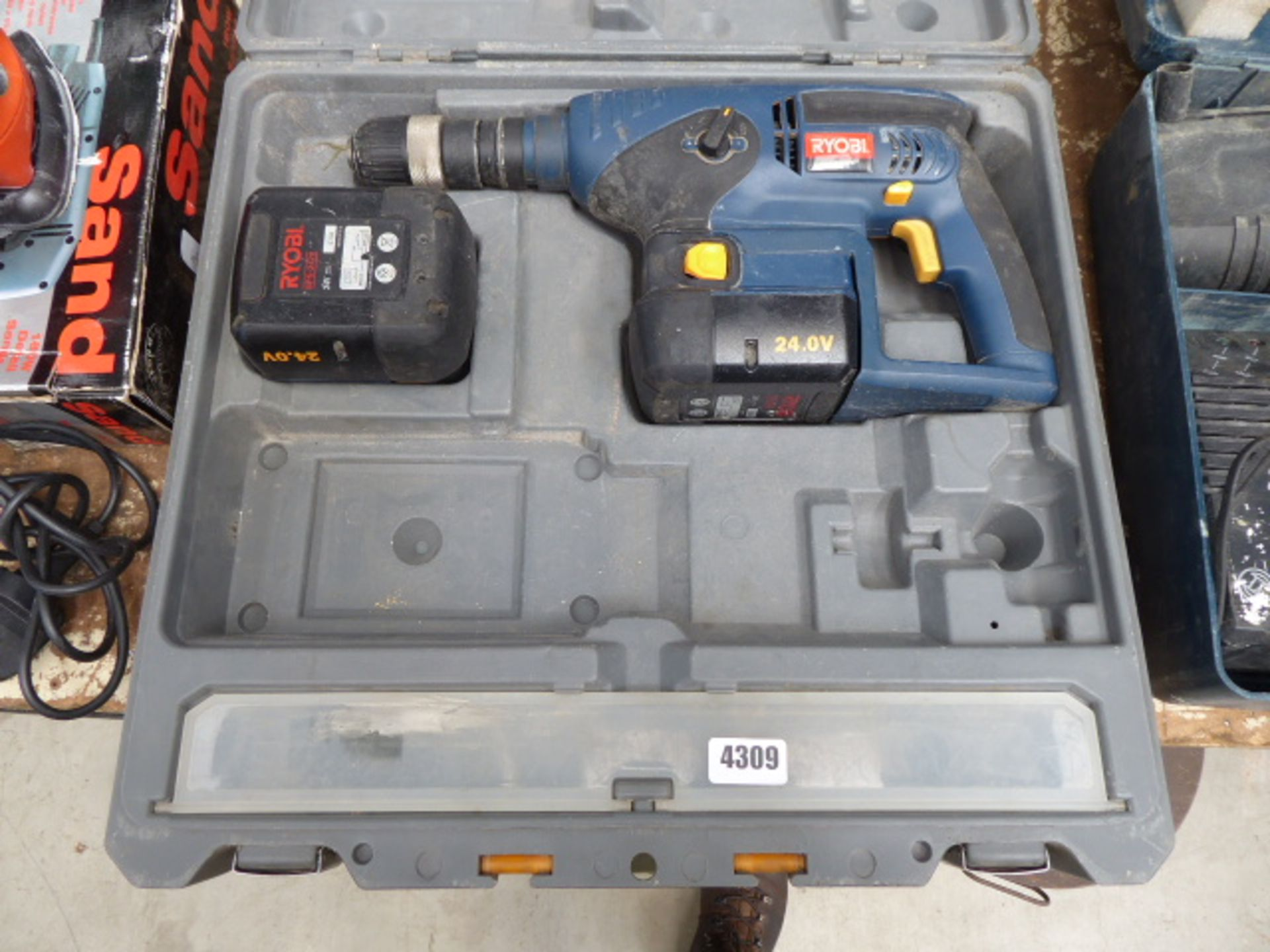 Lot 4309 - Ryobi 24v battery drill with 2 batteries no charger