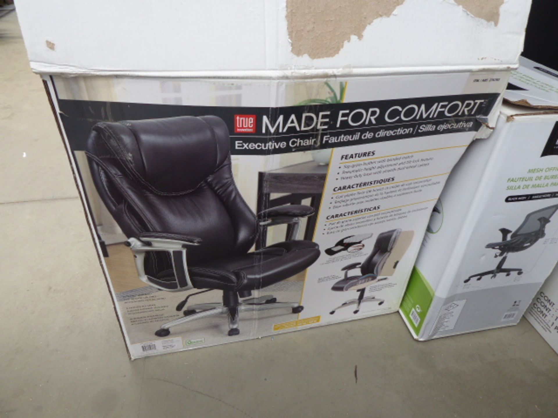 Lot 4255 - 2 Boxed chairs (parts only)