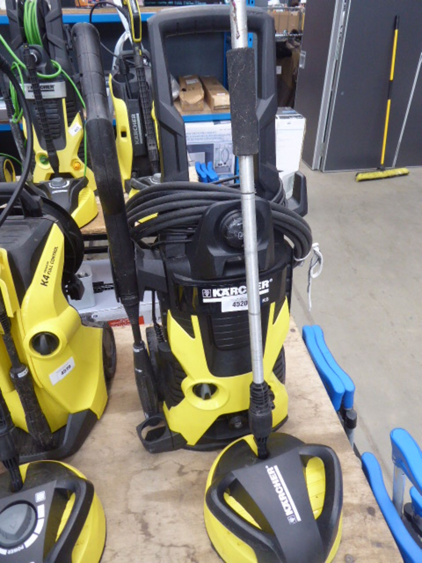 Lot 4393 - 4520 Karcher K5 electric pressure washer with patio cleaning head and 1 nozzle