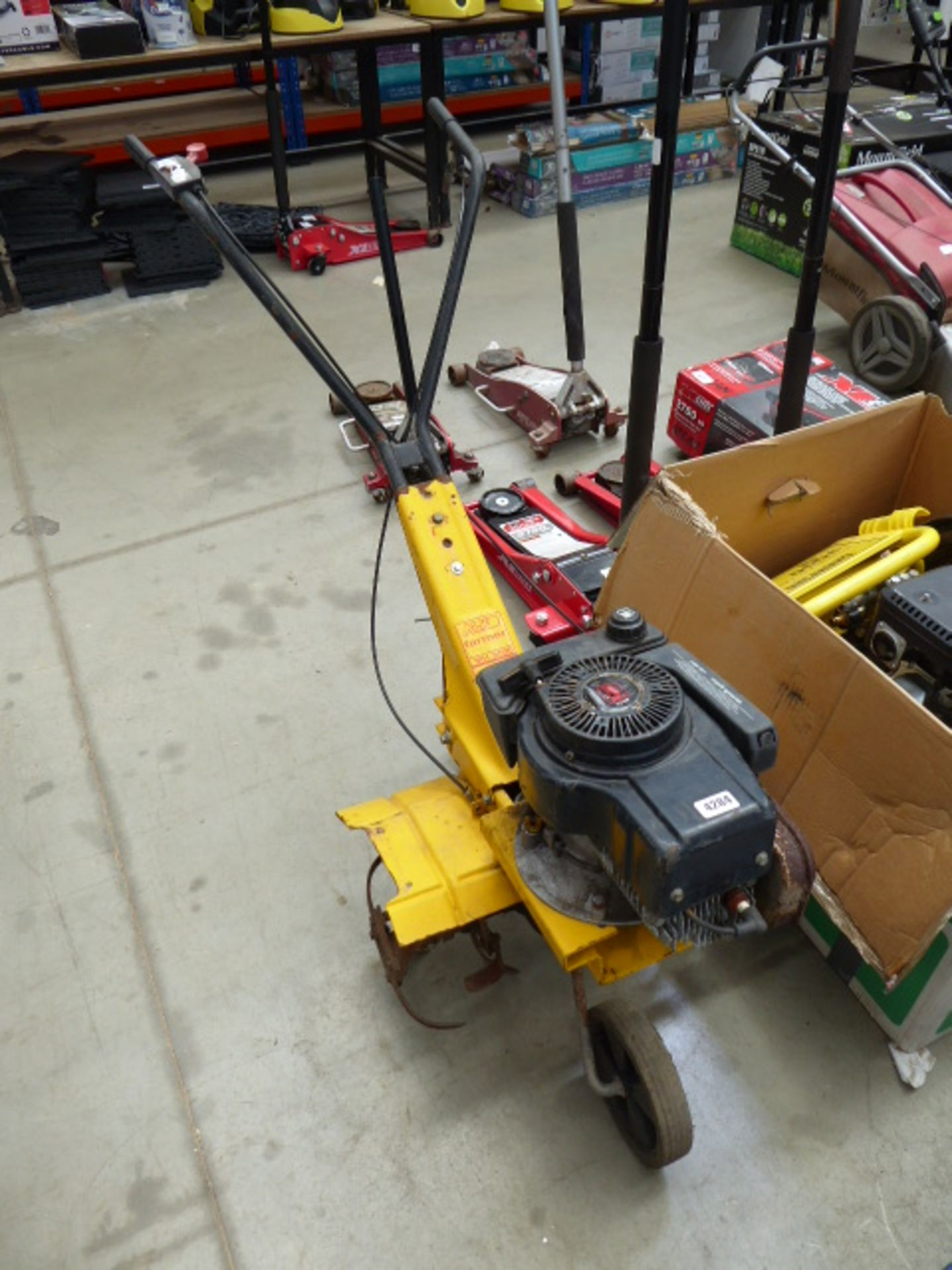 Lot 4284 - Alko petrol powered rotovator