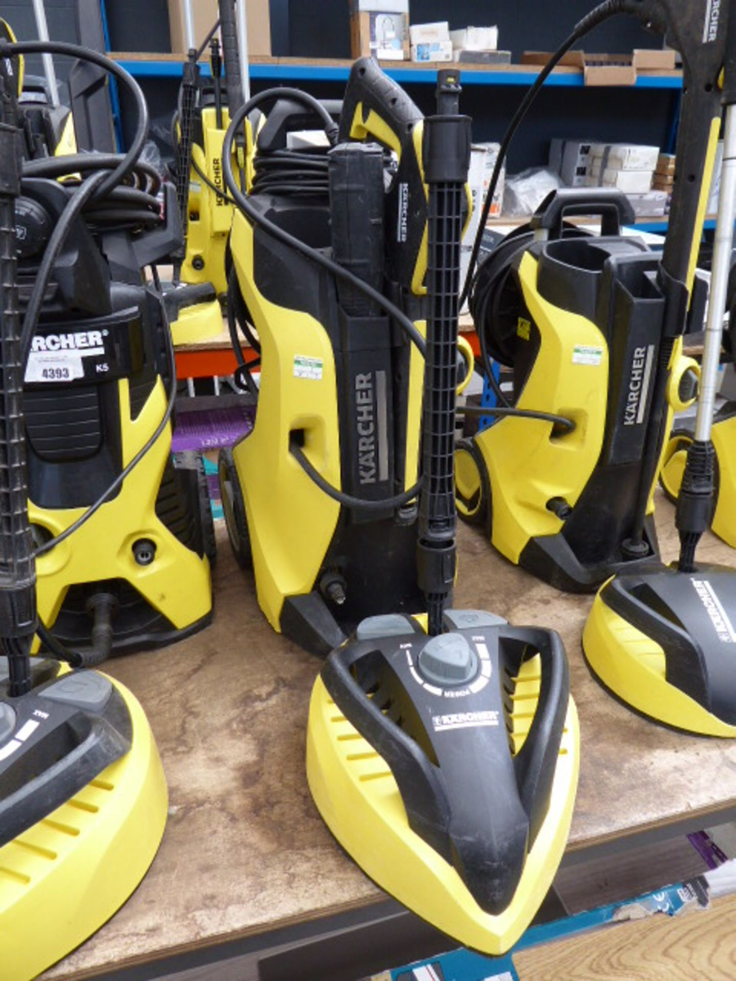 Lot 4394 - Karcher K7 premium 4 electric pressure washer with patio cleaning head