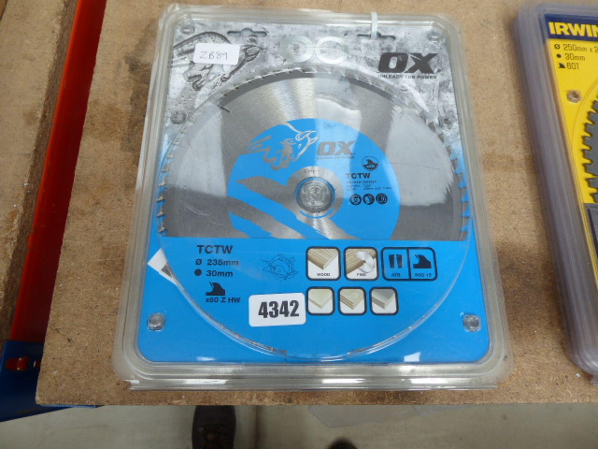 Lot 4342 - 5 large OX cutting discs