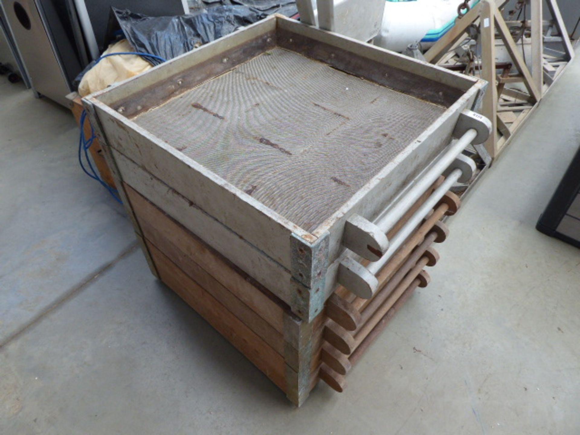Lot 4174 - Six Deck sieves,