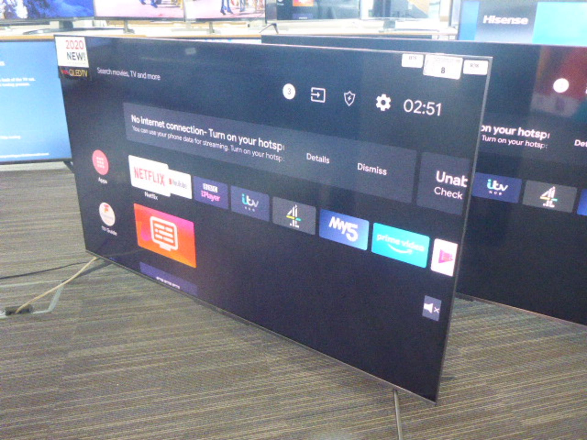 (R38) TCL 55'' TV model number 55C715K with remote and box B75