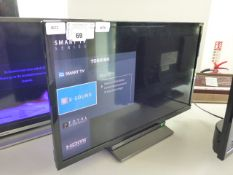 (R22) Toshiba 24'' TV with DVD player built in model number 24WD3A63DB with remote and box B70