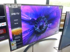 (R3) LG 43'' TV model number 43UN81006LB with remote and box B112