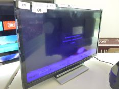 (R23) Toshiba 24'' DVD built in TV model number 24D3753DB with remote and box B71 (screen has faulty