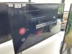 (R29) TCL 43'' TV model number 43EP658 with remote and box B83
