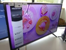 (R46) Hisense 32'' TV model number H32B5600UK with remote and box B93