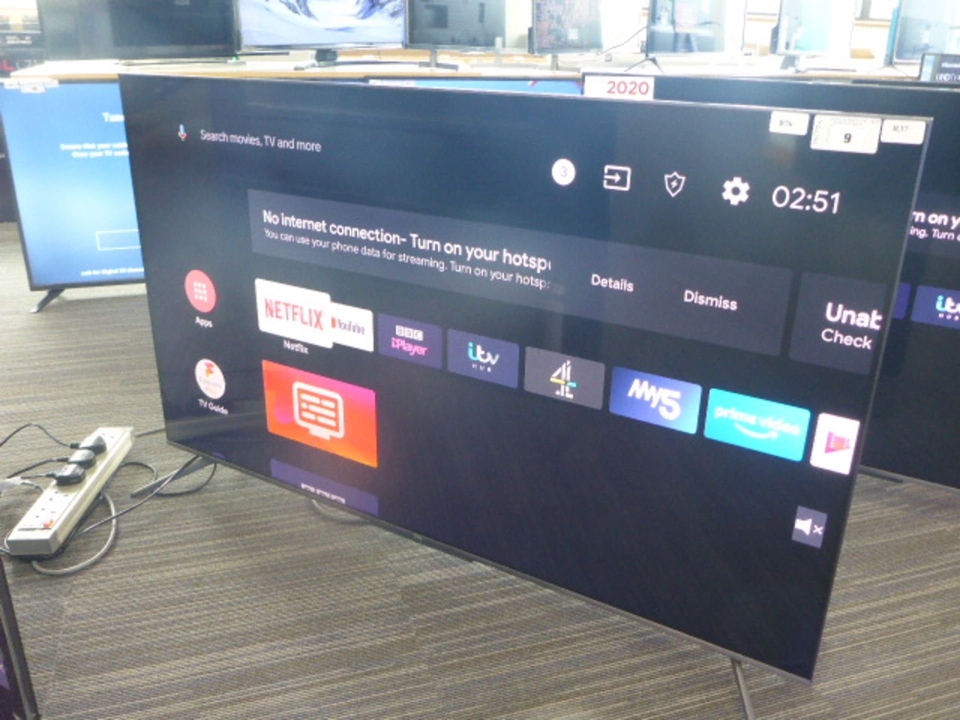 (R37) TCL 55'' TV model number 55C715K with remote and box B76