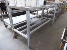 150cm stainless steel preparation table