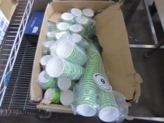Large box of paper cups
