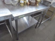 90cm stainless steel preparation table