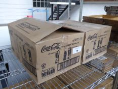 2 boxes of Coca Cola glasses