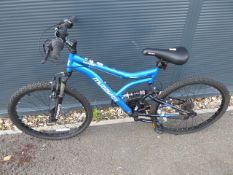 Blue Muddy Fox child's mountain bike