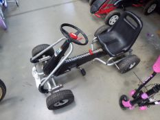 4031 Keter Silver and black electric go-kart
