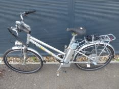 Silver ladies electric cycle