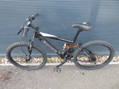 Black and white Carrera child's mountain bike
