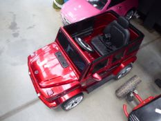 Mercedes AMG red child's electric jeep