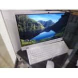 HP all in one computer in white intel core i3 9th gen processor, 4gb ram, 1tb hdd, with keyboard and