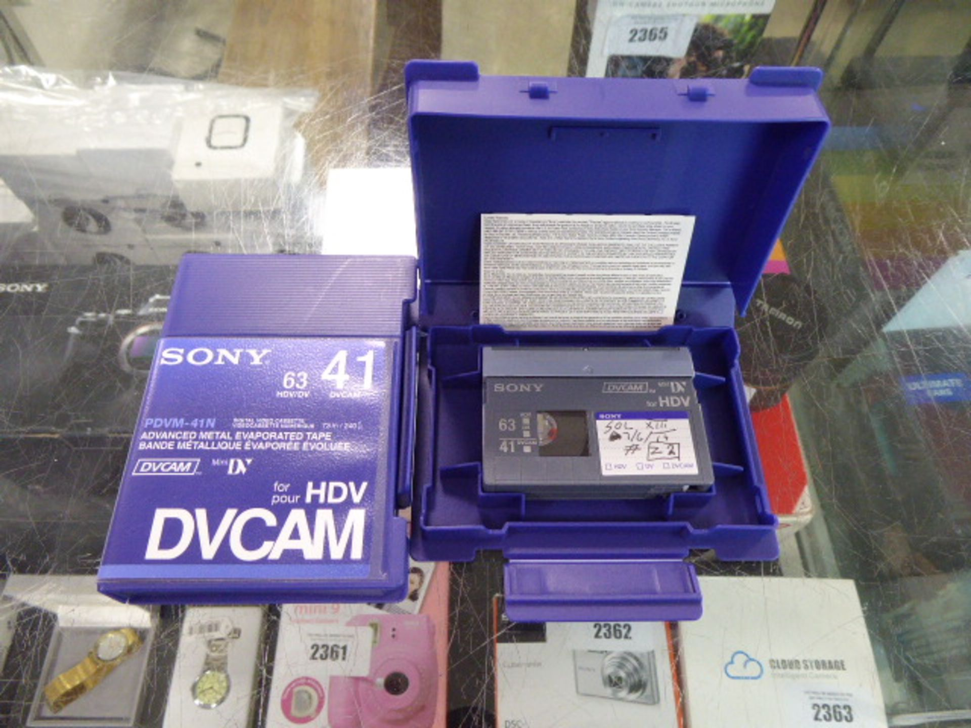 Lot 2395 - 4 packs of Sony HDV DV cam cassettes