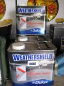 4 tubs of Dulux Weather Shield exterior stabilizing primer