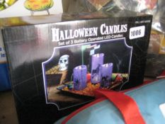 Boxed set of 3 Halloween LED candles