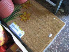 Set of 4 daffodil door mats
