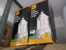 Pair of solar Arlette garden lanterns, size L