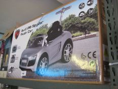 Boxed childs Audi R8 push car