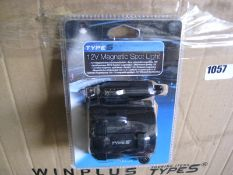 Box containing Type-S 12v magnetic spotlights