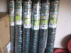 6 rolls of 6m x 1m wire netting