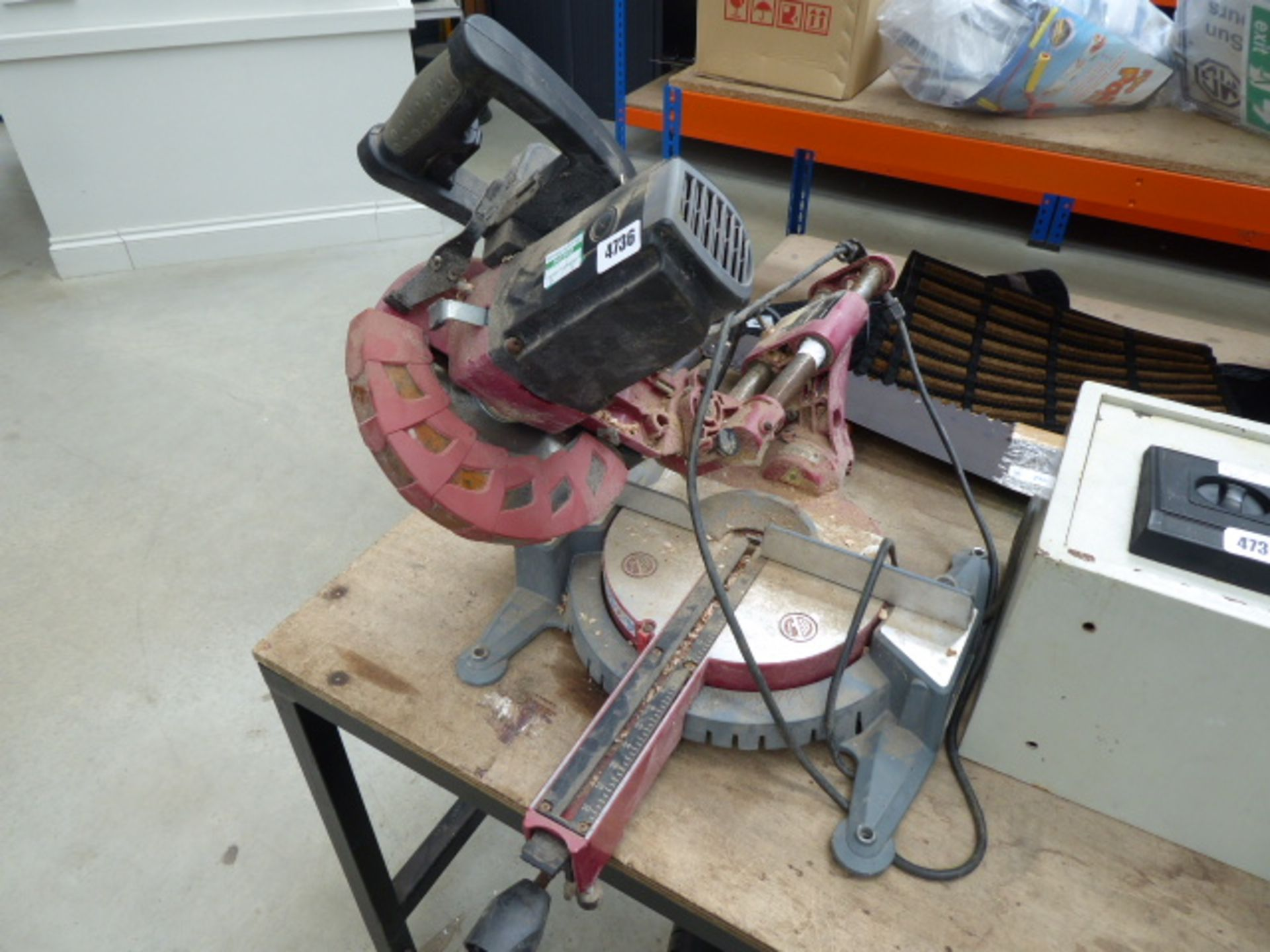 Lot 4736 - Red Einhell electric chopsaw