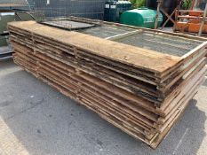 Quantity of wood and wire mesh Partridge pen panels