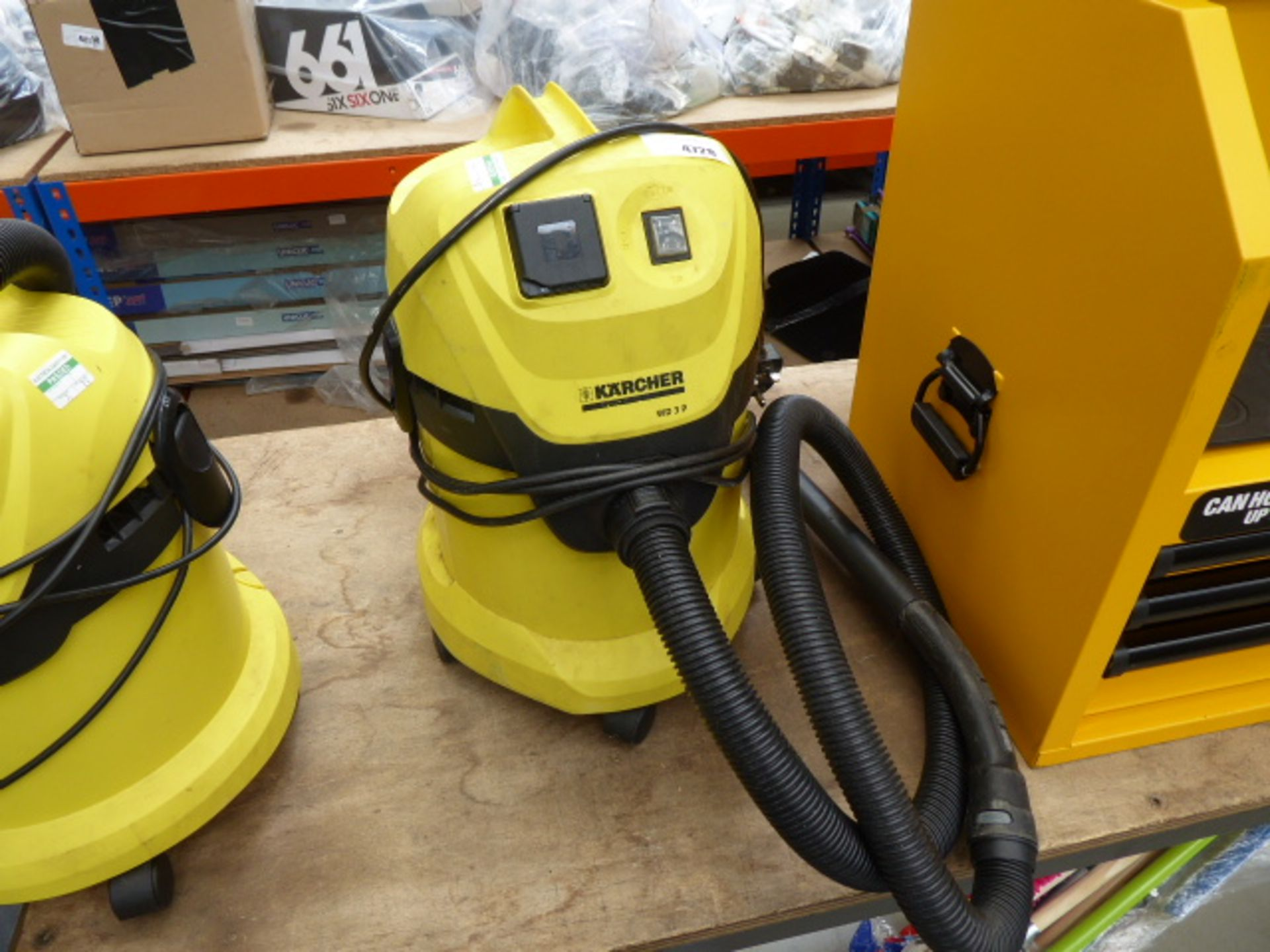 Lot 4728 - Karcher WD3P vacuum cleaner with hose and pipe