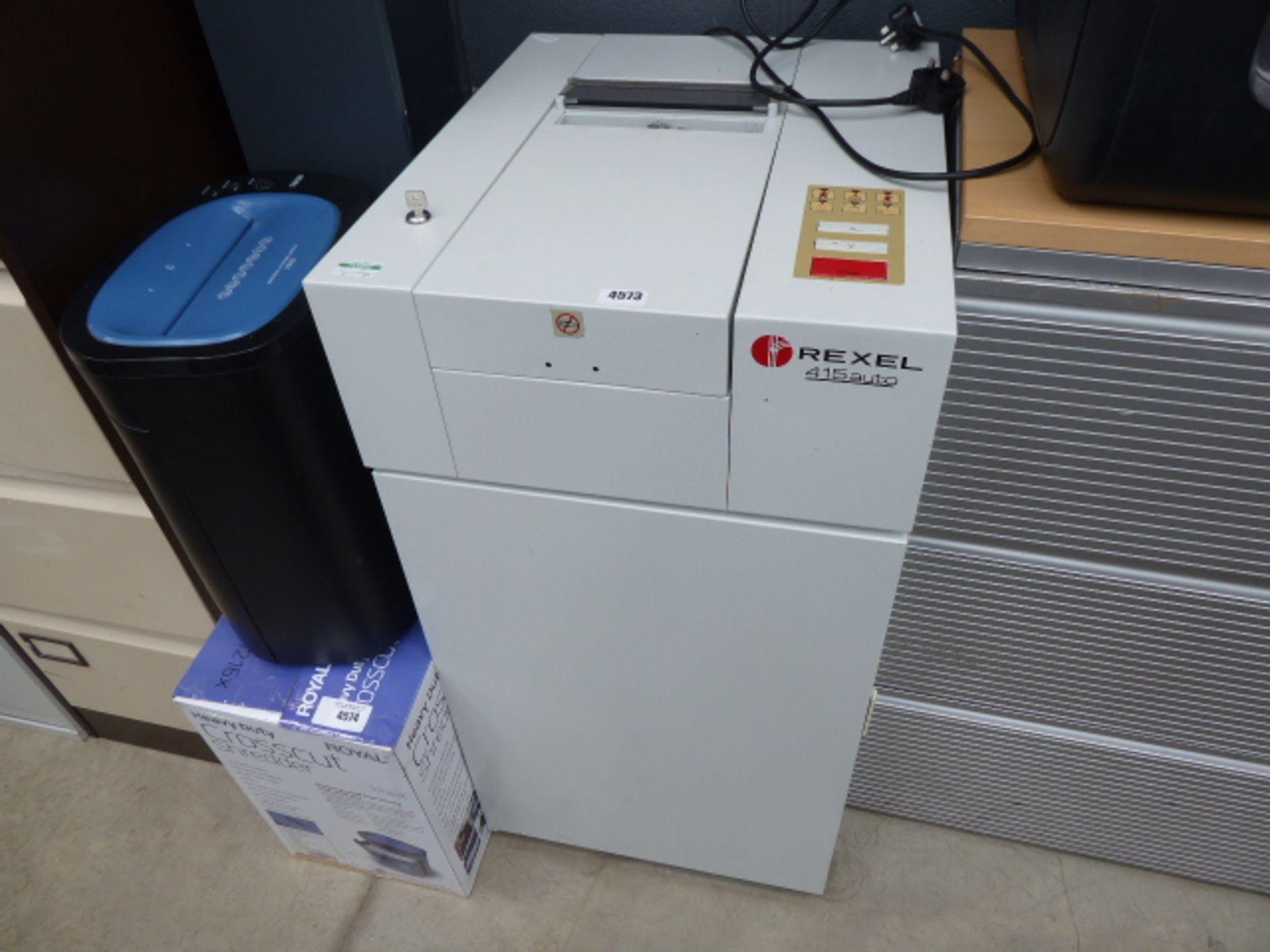 Large industrial style Rexel paper shredder