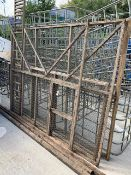 Rook/Crow ladder trap, timber and galvanized mesh panels